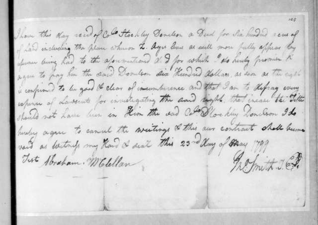 J. Smith to Stockley Donelson, May 23, 1799