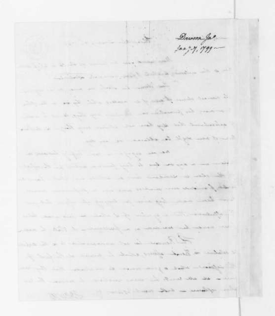 John Dawson to James Madison, January 7, 1799.