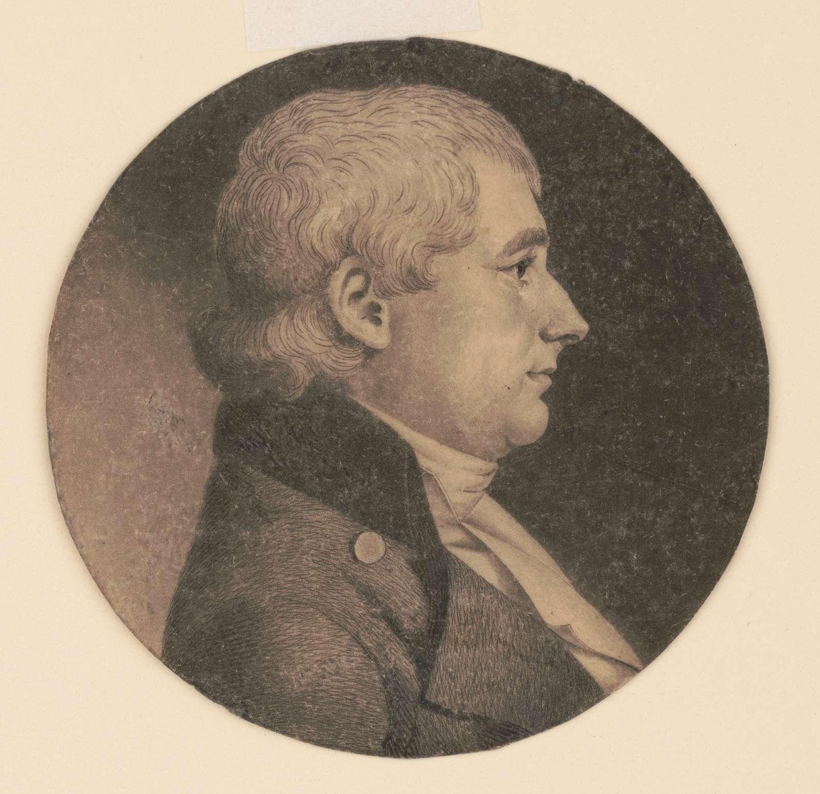 John Smith, head-and-shoulders portrait, right profile