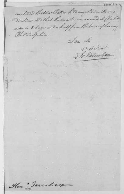 Joseph Habersham to A. Garrett, February 4, 1799