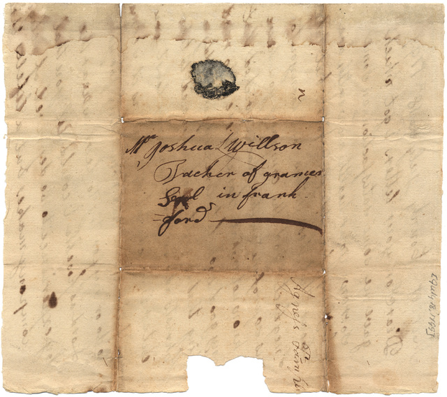 Letter from Agnes Templin to Joshua Lacy Wilson
