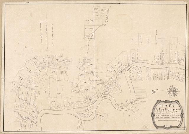 Mapa de las locaciones del Distrito de Baton Rouge /