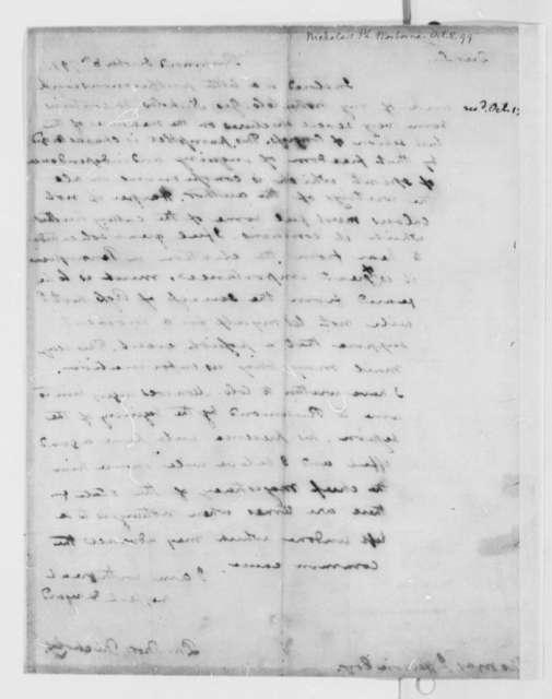 Philip N. Nicholas to Thomas Jefferson, October 8, 1799