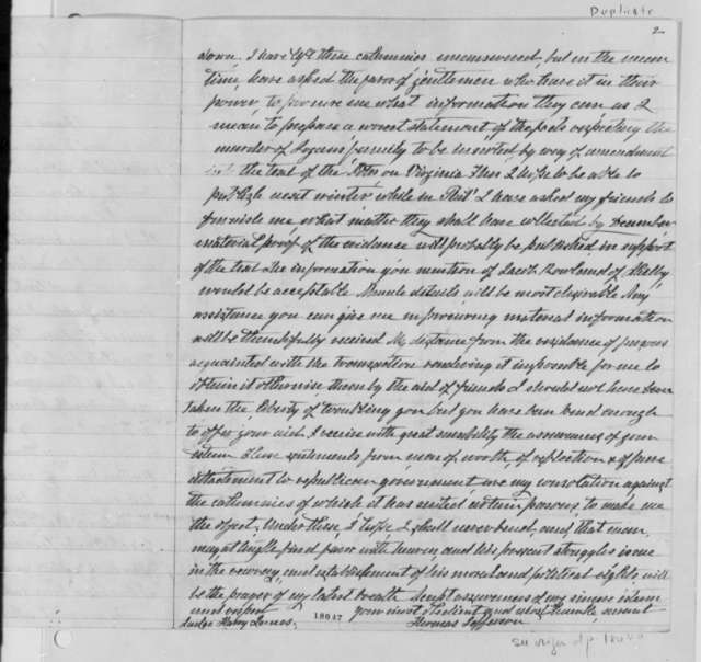 Thomas Jefferson to Harry Innes, June 20, 1799, with Copy