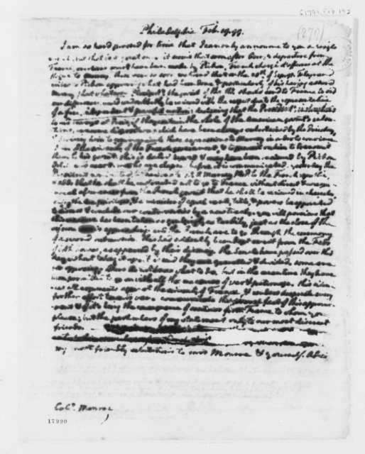 Thomas Jefferson to James Monroe, February 19, 1799