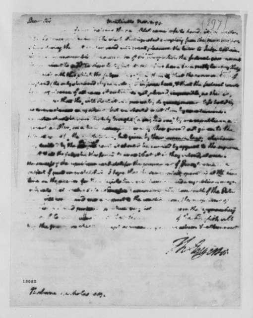 Thomas Jefferson to Philip N. Nicholas, November 2, 1799