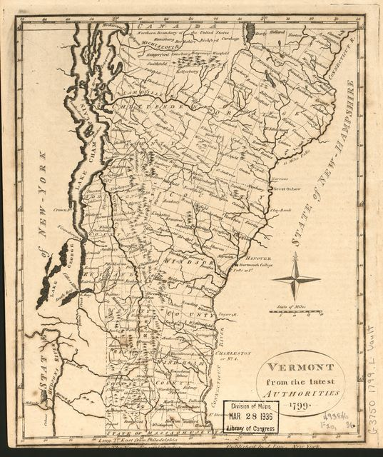 Vermont : from the latest authorities, 1799 /