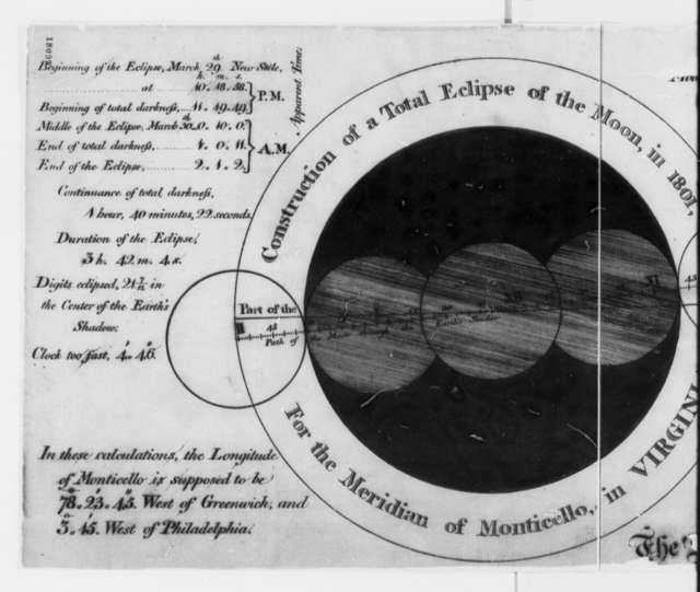 William Lambert, December 31, 1799, Drawing of Eclipse of Moon