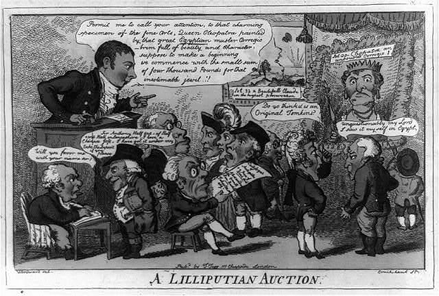 A lilliputian auction / Woodward del ; Cruikshank st.