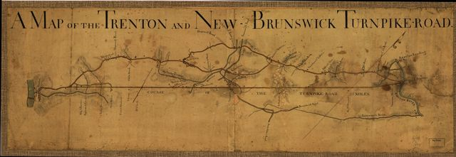 A Map of the Trenton and New-Brunswick Turnpike-road.