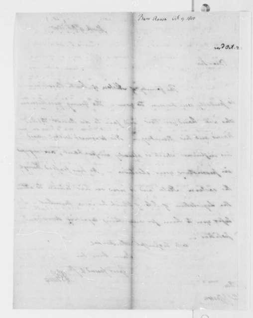 Aaron Burr to Thomas Jefferson, October 9, 1800