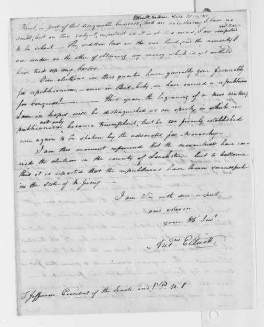 Andrew Ellicott to Thomas Jefferson, October 17, 1800