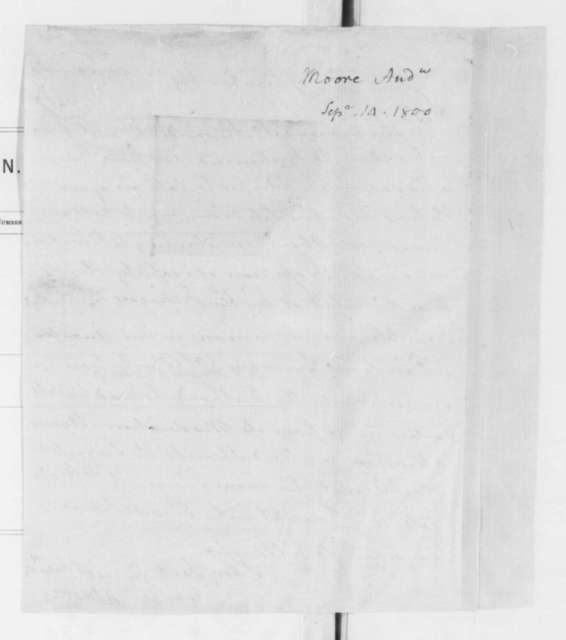 Andrew Moore to James Madison, September 14, 1800.