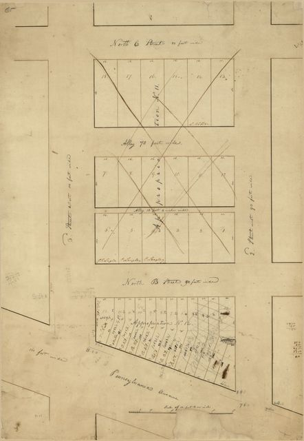 [Cadastral map of areas designated Appropriation no. 11 and Appropriation no. 12, Washington D.C.].