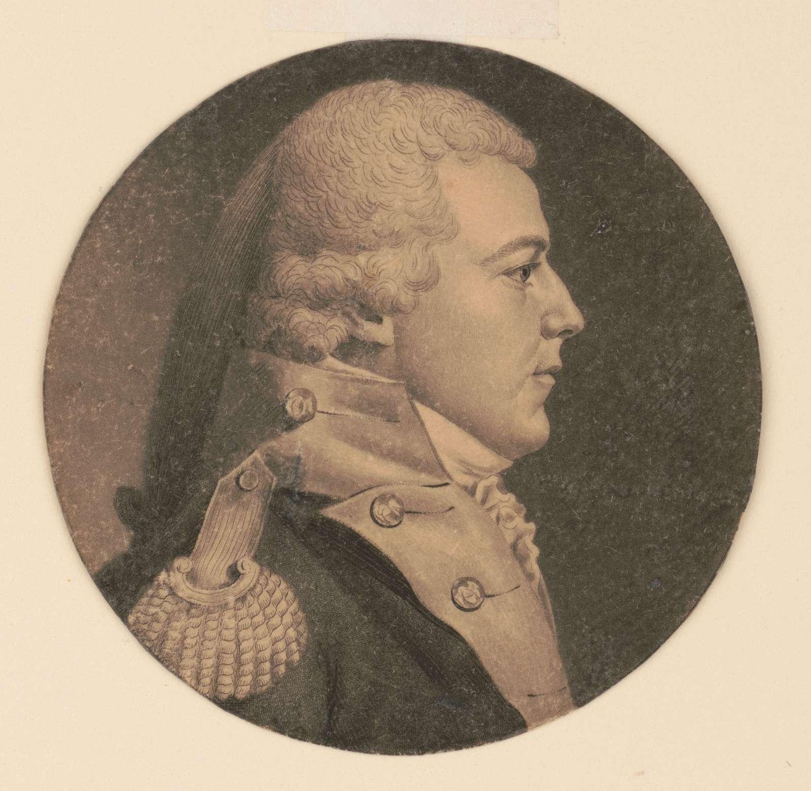 Captain Thompson, head-and-shoulders portrait, right profile