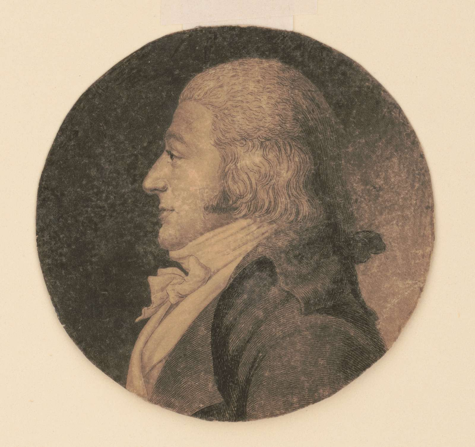 Charles de Lagarenne, head-and-shoulders portrait, left profile