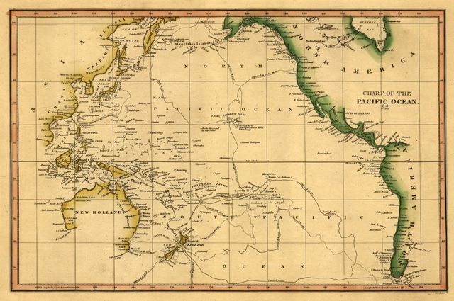 Chart of the Pacific Ocean.