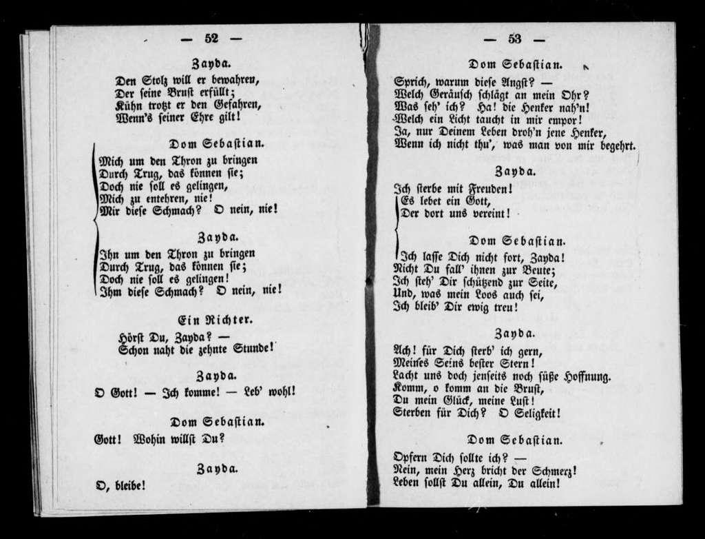 Dom Sébastien, roi de Portugal. Libretto. German