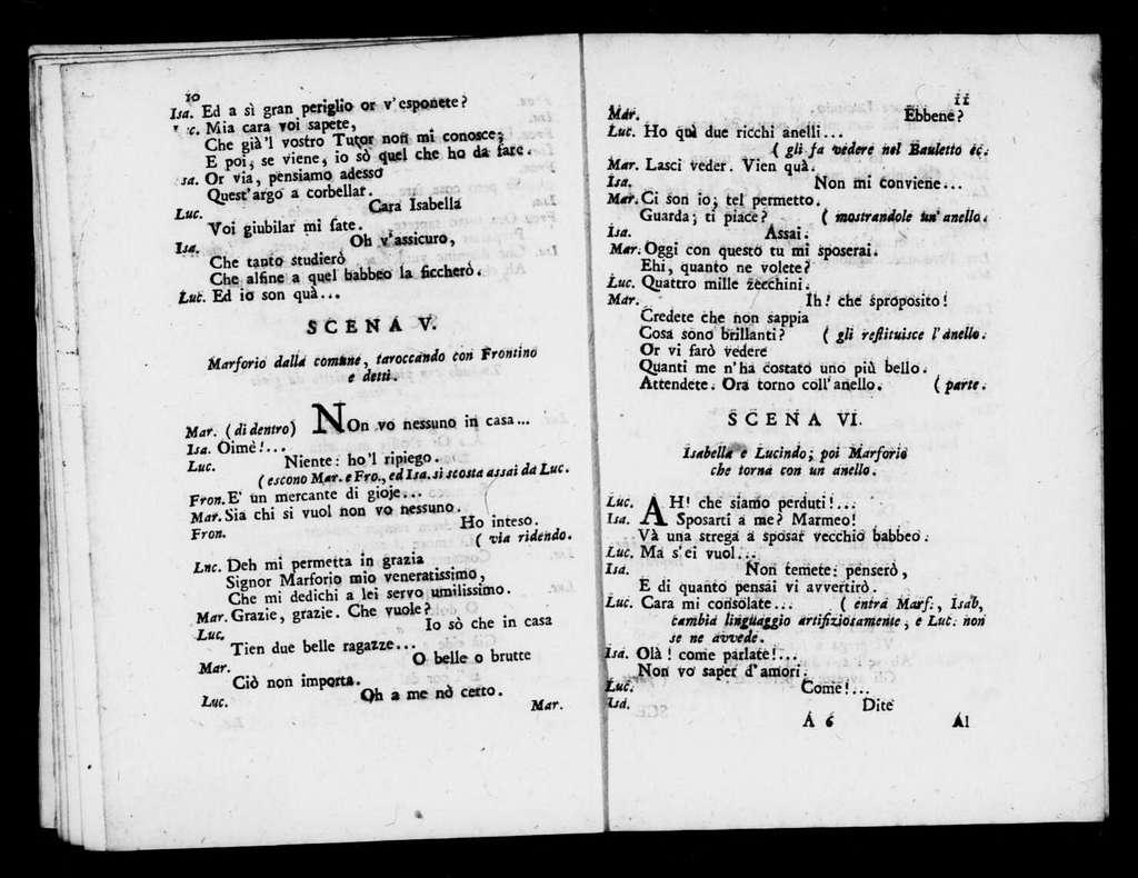 Donne ve la fa. Libretto. Italian