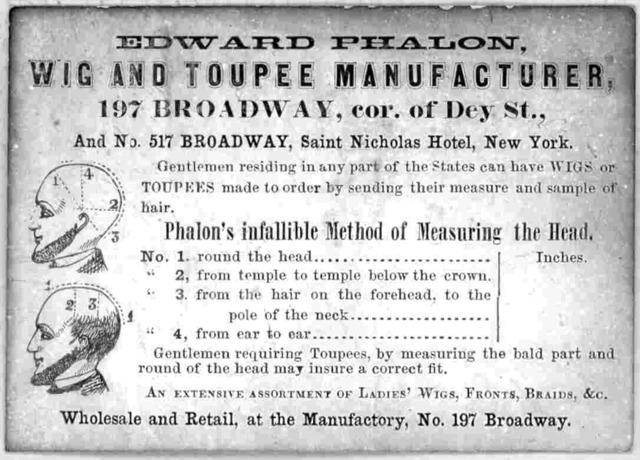 Edward Phalon. Wig and toupee manufacturer. ... New York [18-].