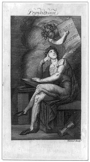 [Frontispiece showing young man seated, with Genius holding a plaque]