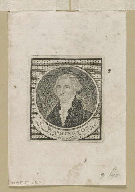 G. Washington who departed this life Decr. 14, 1799 aged 68