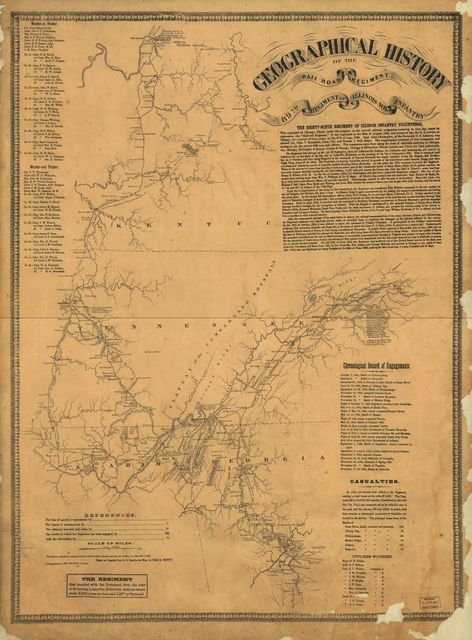 Geographical history of the rail road regiment, 89th regiment of Illinois vols. infantry. [1862-1865]