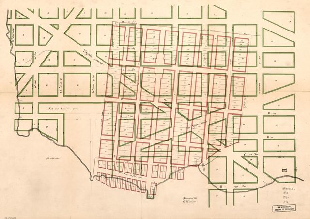 Hamburgh in red, the city in green : [Washington D.C.].