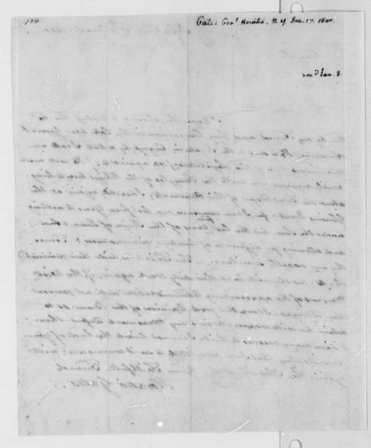 Horatio Gates to Thomas Jefferson, December 17, 1800