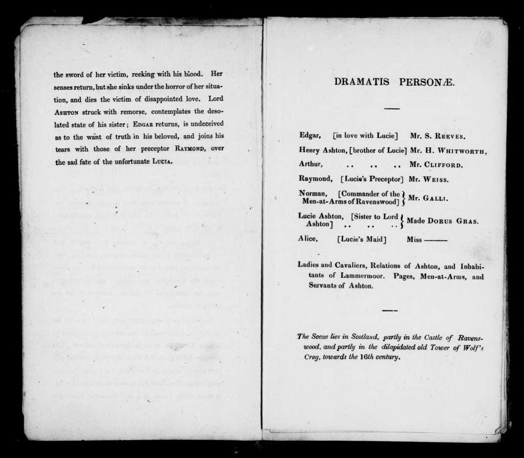 Lucia di Lammermoor. Libretto. English