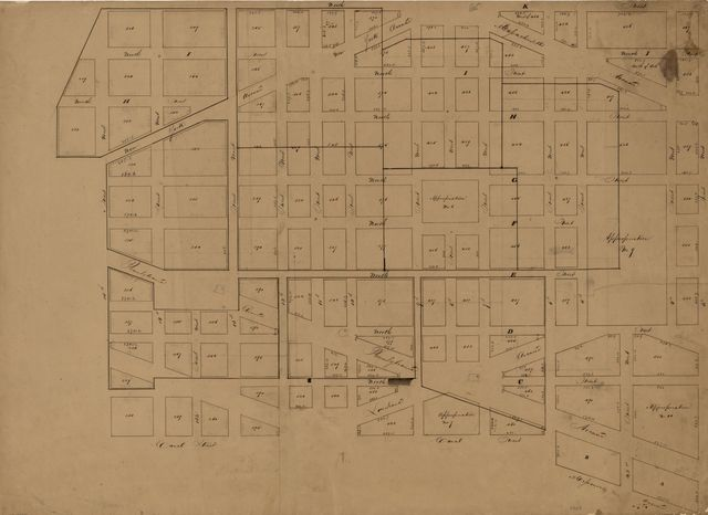 [Map of part of central Washington D.C. to the east of the White House].