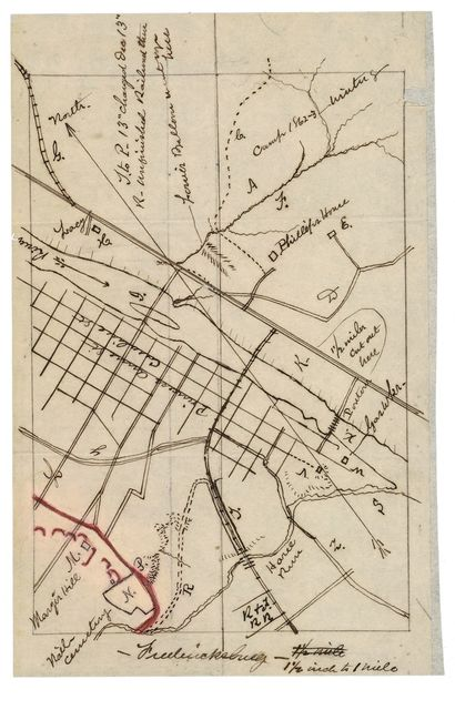 [Map of portion of Fredericksburg, Spotsylvania County, Virginia] /