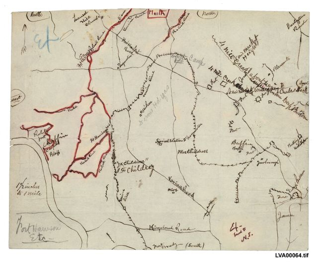 [Map of the Chaffin's Bluff area of Henrico County, Virginia] /