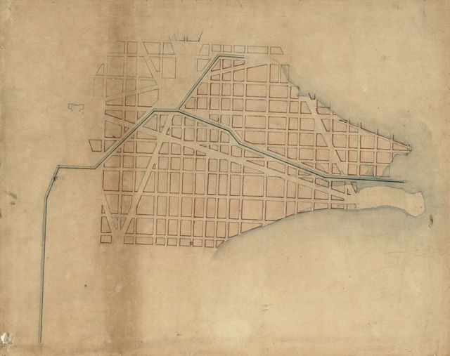 [Map of the southern part of the city of Washington D.C.].