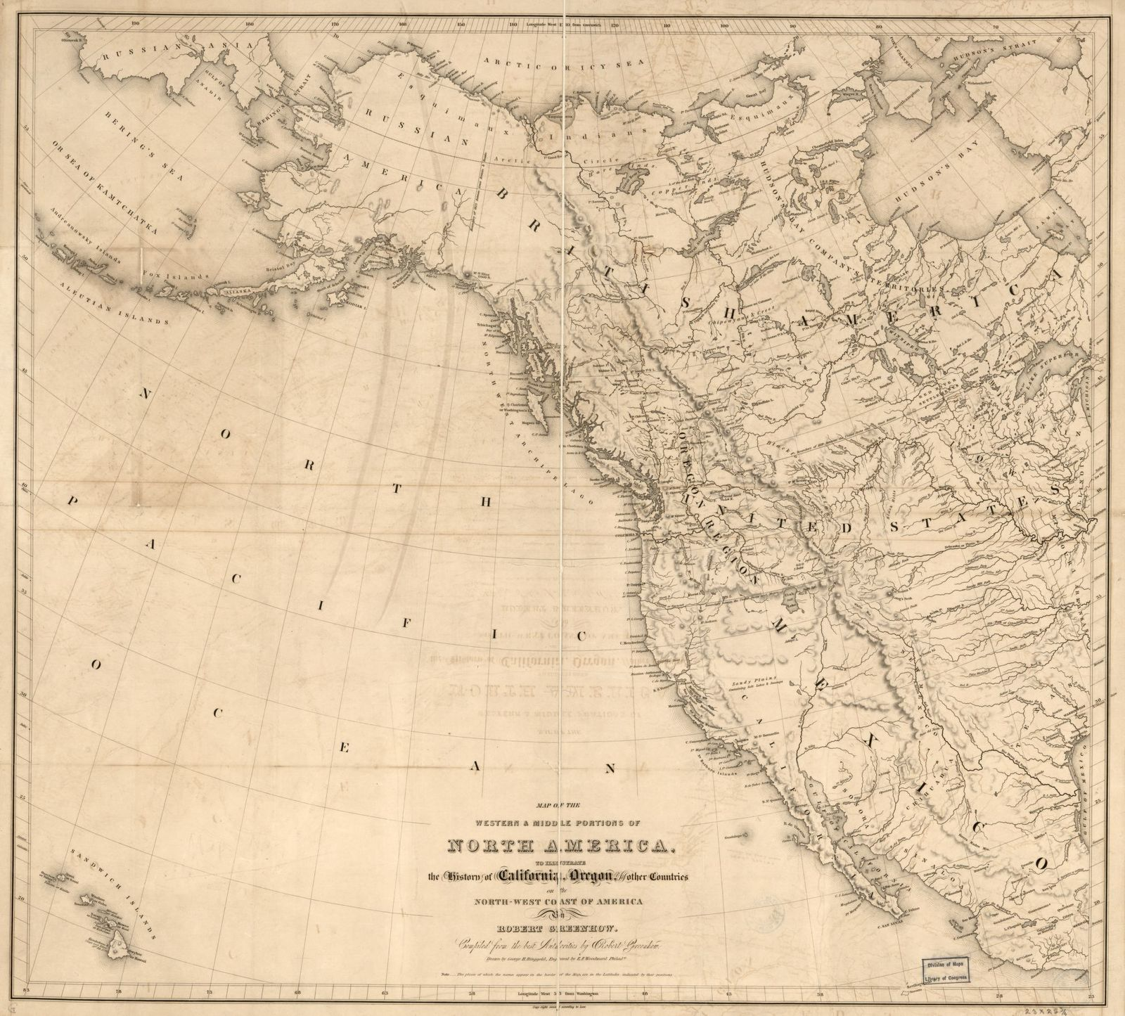 Map Of The Western Middle Portions Of North America To