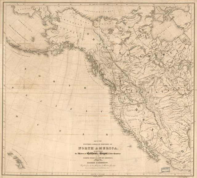 Map of the western & middle portions of North America : to illustrate the history of California, Oregon, and the other countries on the north-west coast of America /