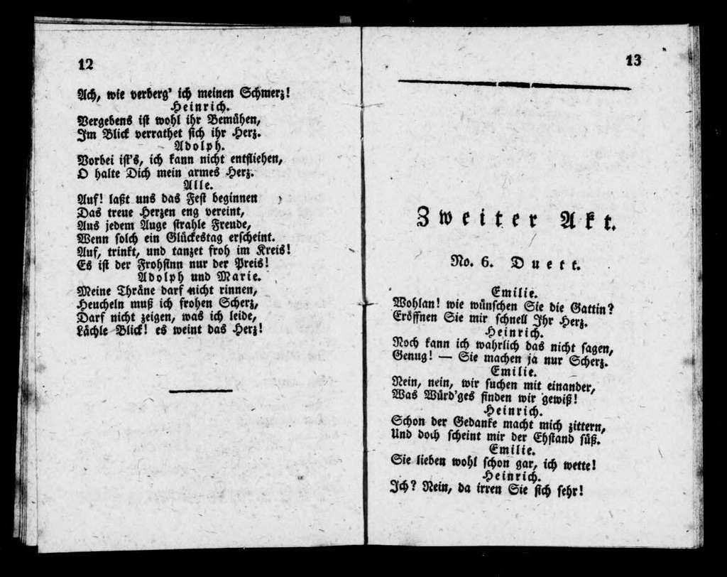 Marie. Libretto. German
