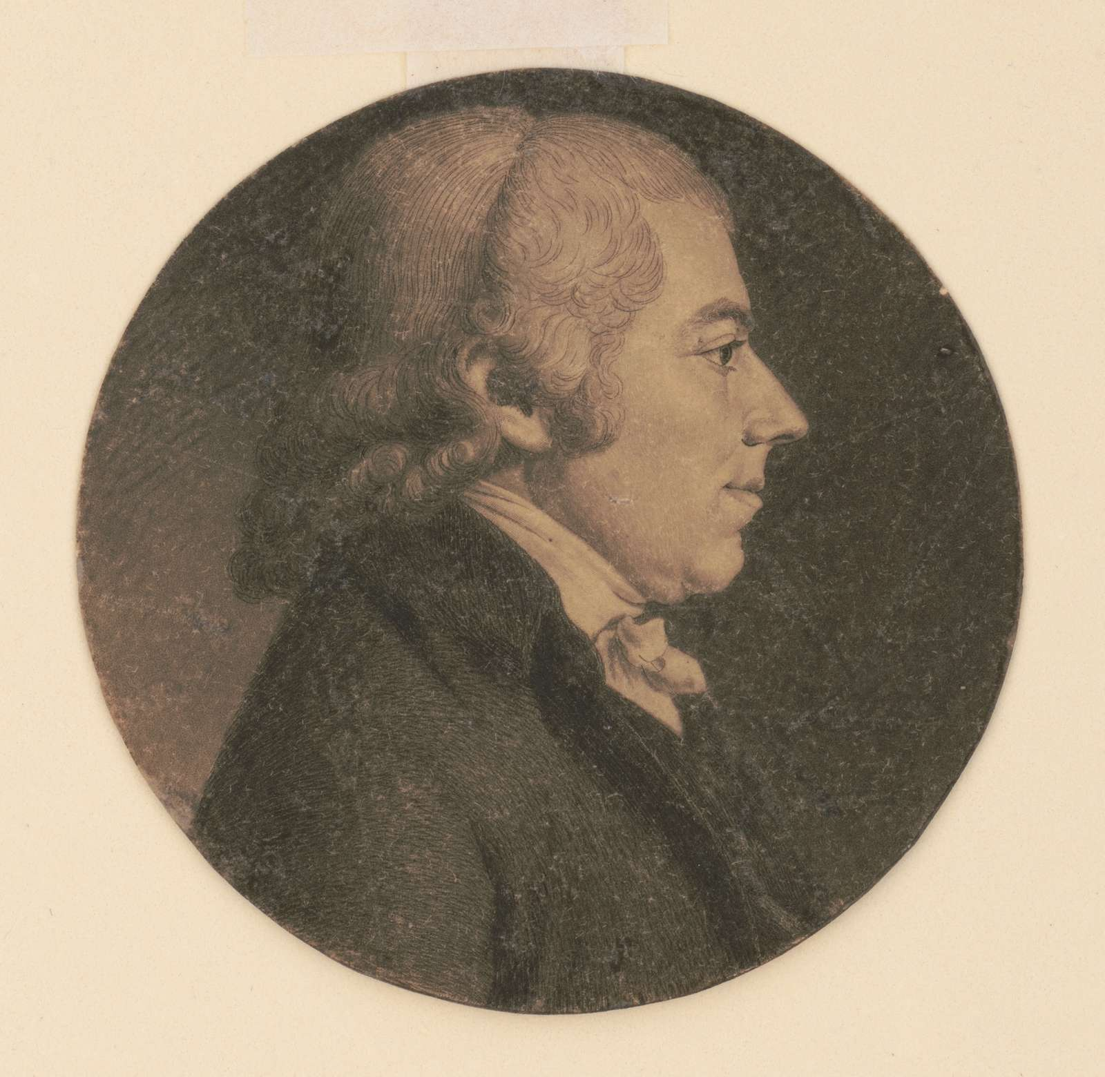 Matthew Clay, head-and-shoulders portrait, right profile