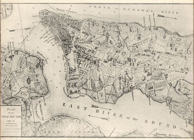 New York to New Rochelle : from Christopher Colles's survey of U.S. roads 1789.