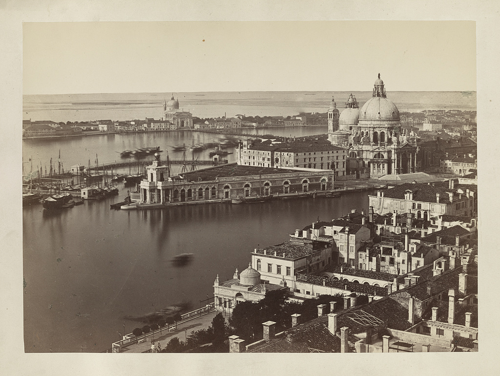 Panorama dal campanile di S. Marco verso S. Maria della Salute