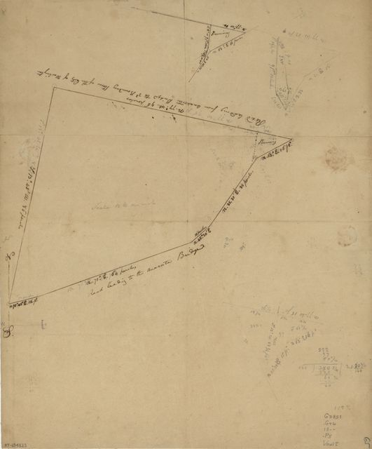 Plat of land lying between road to Benning's Bridge & Cool Spring Road.