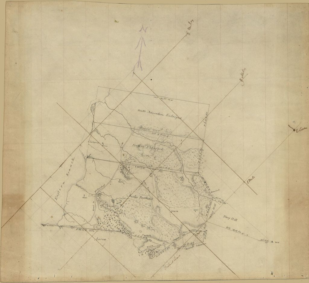 [Property survey map of the eastern end of Washington D.C. showing land tracts and householders' names].
