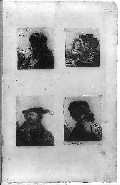 [Restrikes of four Rembrandt etchings]