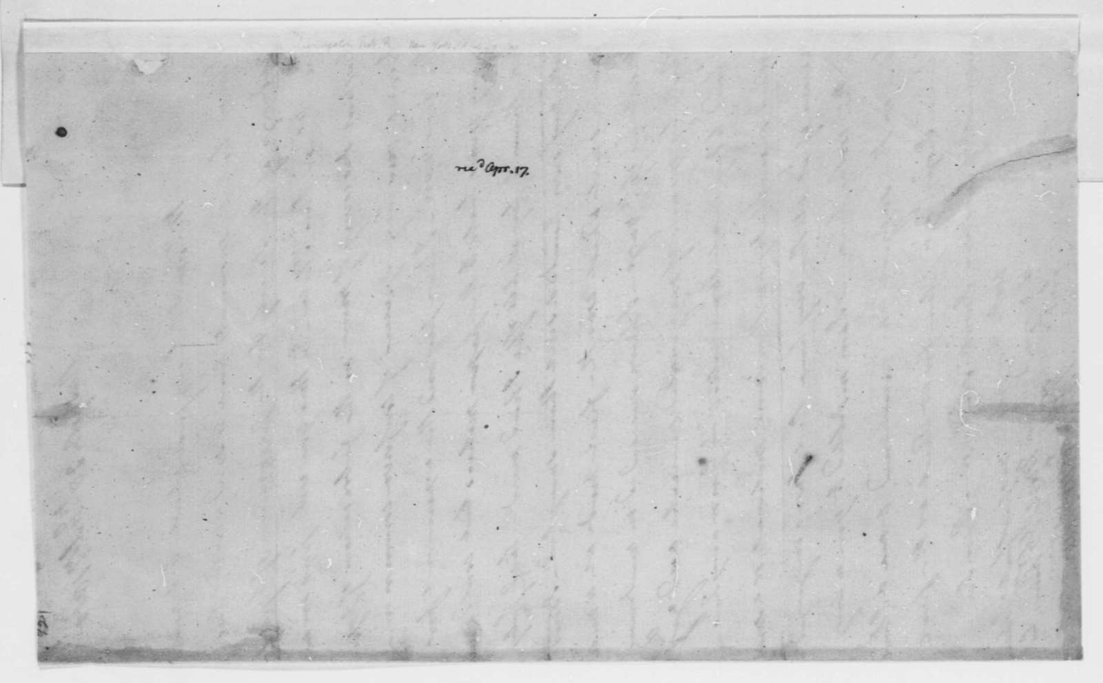 Robert R. Livingston to Thomas Jefferson, February 28, 1800