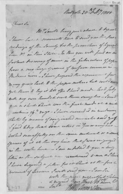 Robert R. Livingston to Thomas Jefferson, February 28, 1800
