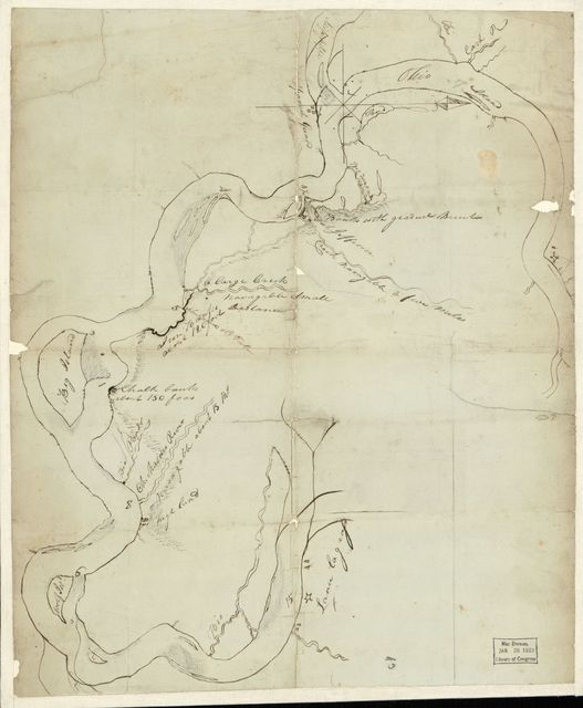 [Rough sketch showing the Mississippi River from its junction with the Ohio to a little below Memphis].