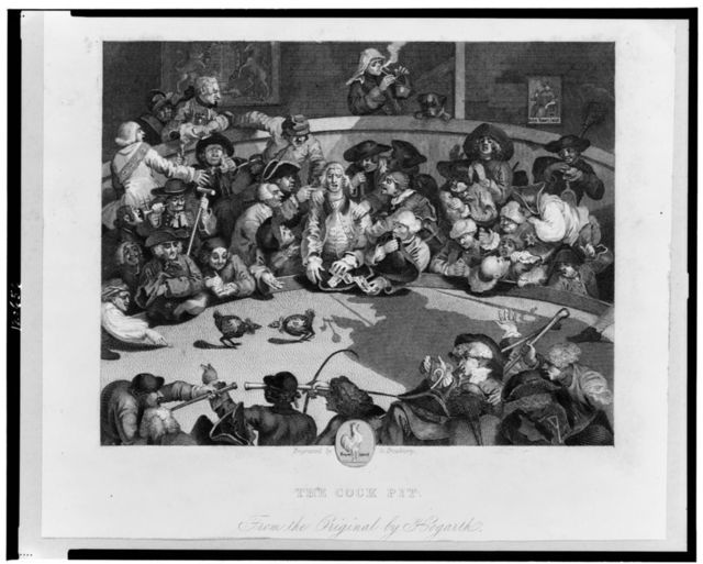 The cock pit / engraved by G. Presbury ; from the original by Hogarth.