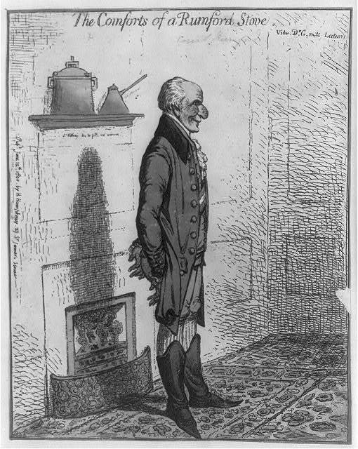 The comforts of a Rumford stove Vide Dr. G-rn-ts lectures / / Js Gillray des. & fect. ad vivum.