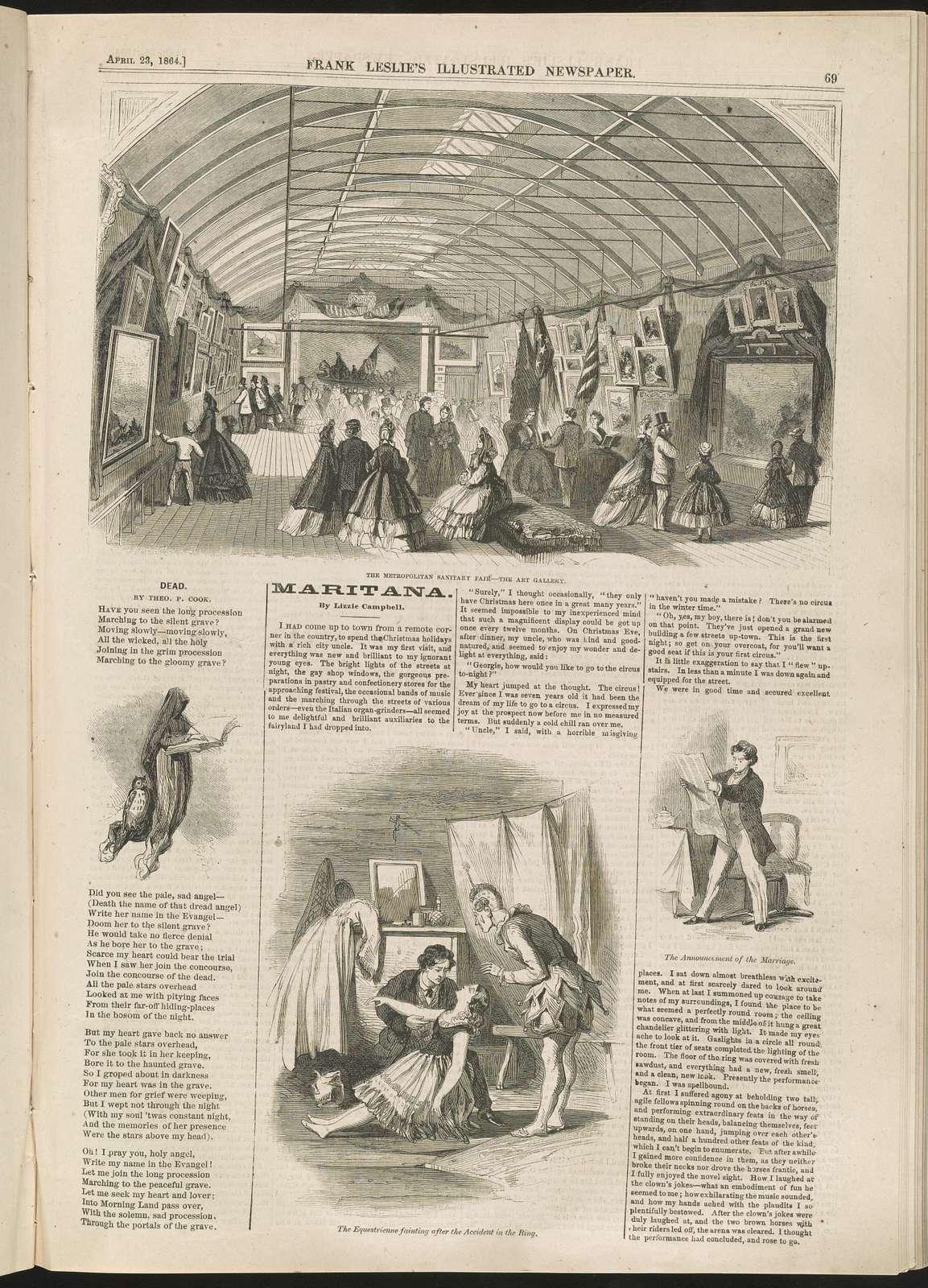 The Metropolitan Sanitary Fair - the art gallery