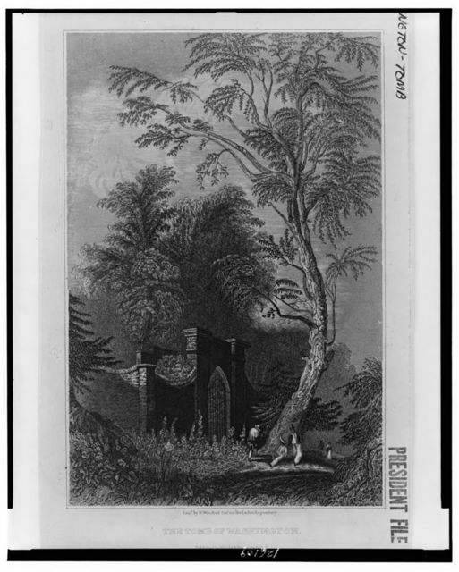 The tomb of Washington / engraved by W. Woodruff Cunr. for the Ladies Repository.